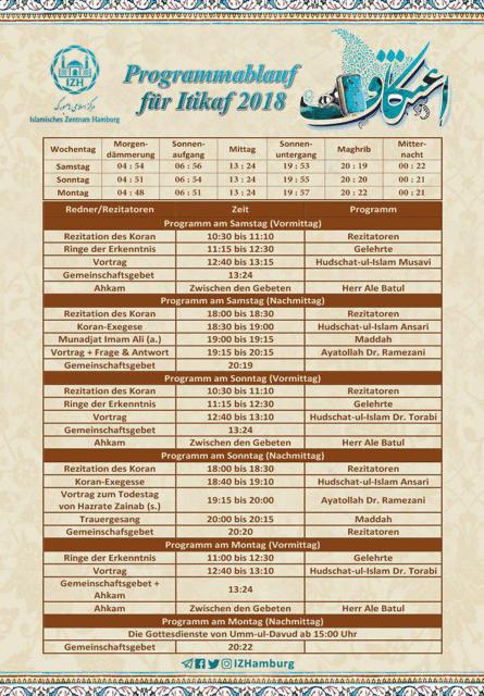 Tagesplan Itikaf